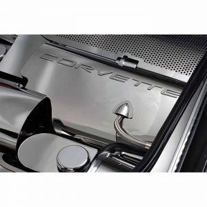 1999-2004 Corvette Polished Stainless Fuel Rail Covers w/Corvette (Snap-On Design)