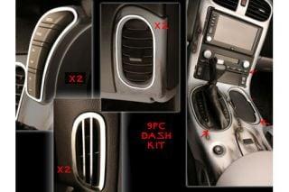2005-2013 Corvette 9-pc Stainless Dash Trim Kit