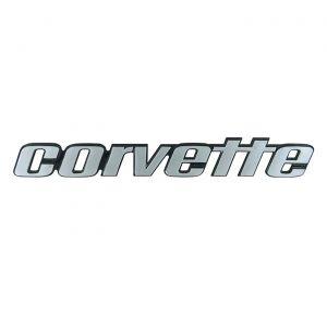 Corvette Rear Bumper Emblem Metal Sign (large)