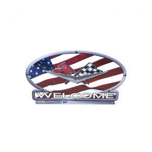 C2 Corvette American Flag Mailbox Topper