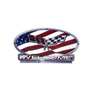 C3 Corvette American Flag Mailbox Topper