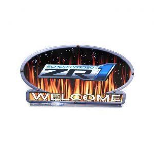 ZR1 Corvette Flames Mailbox Topper