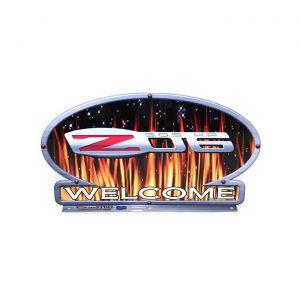Z06 Corvette Flames Mailbox Topper