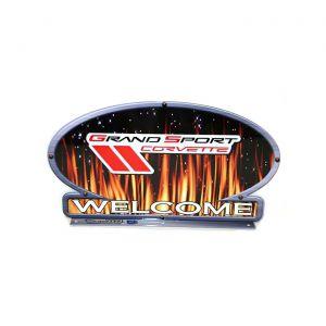 Grand Sport Corvette Flames Mailbox Topper