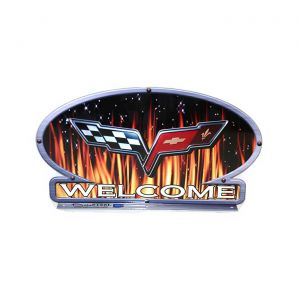 C6 Corvette Flames Mailbox Topper
