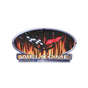 C5 Corvette Flames Mailbox Topper