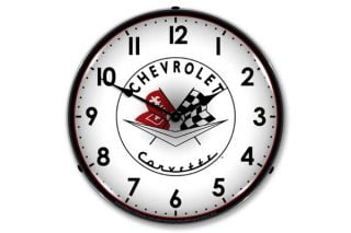 1956-1957 Corvette Emblem Lighted Clock