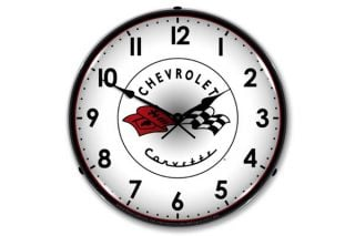 C1 Corvette Emblem Lighted Clock