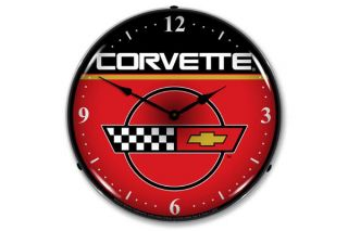 C4 Corvette Emblem Lighted Clock