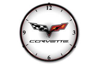 C6 Corvette Emblem Lighted Clock