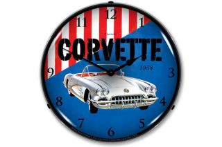 1958 Corvette Lighted Clock