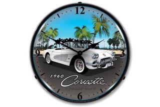 1960 Corvette Lighted Clock
