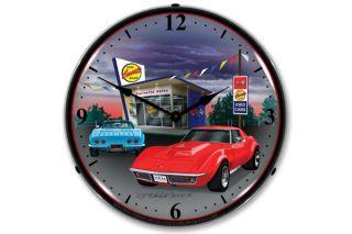 1968 Corvette Lighted Clock