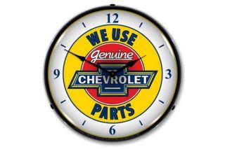 Genuine Chevrolet Lighted Clock