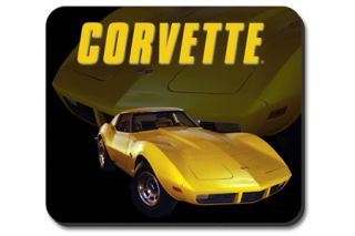 Yellow Stingray Corvette Mouse Pad