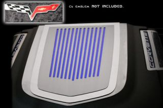 2009-2013 Corvette ZR1 Stainless Ribbed Engine Shroud Cover (Use w/Emblem)