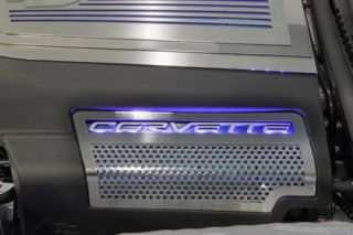 2009-2013 Corvette 2pc Perforated Factory Side Shroud Covers - Illuminated