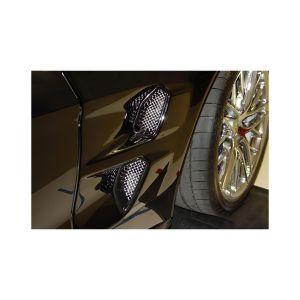 2009-2013 Corvette ZR1 RaceMesh Front Fender Duct Grilles