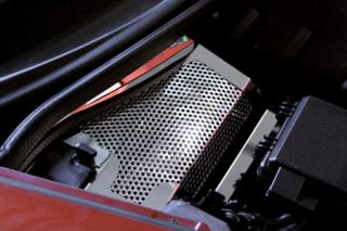 2005-2007 Corvette Perforated Stainless Battery Cover