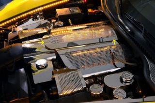 "08-13 LS3 Perforated ""Low Profile"" Stainless Plenum Cover (Illuminated)"
