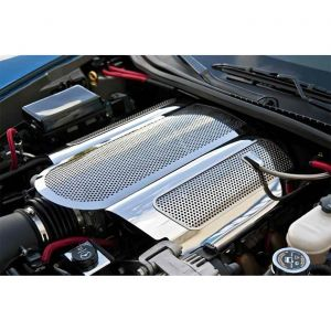 """2006-2013 Corvette LS7 Perforated Stainless """"Low Profile"""" Plenum Cover"""