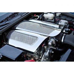 """06-13 LS7 Perforated Stainless """"Low Profile"""" Plenum Cover (Illuminated)"""