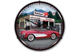 1957 Corvette Lighted Clock