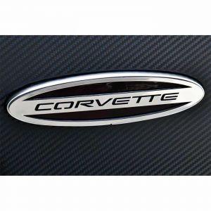 """1997-2004 Corvette Stainless Side Marker Bezels w/""""Corvette"""""""