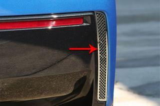 2014-2018 Corvette Laser Mesh Rear Valance Panel Vent Grilles