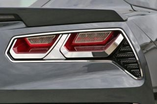 2014-2018 Corvette Stainless Tail Light Trim Kit (8-pc)