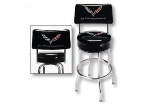 C7 Corvette Stingray Counter Stool w/Backrest