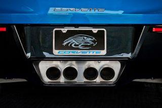 2014-2018 Corvette w/o NPP Brushed Stainless Exhaust Filler Panel