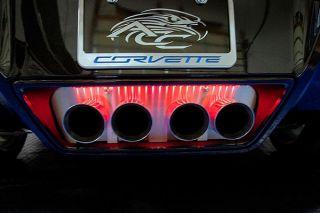 2014-2018 Corvette w/o NPP Brushed Stainless Exhaust Filler Panel (Illuminated)