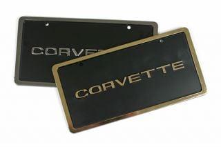 1953-1996 Corvette License Plate w/Border