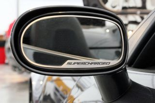 "05-13 Exterior Mirror Stainless Trim w/""Supercharged"""