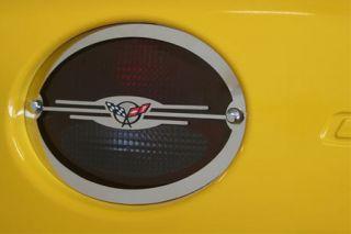 97-04 Stainless Tail Light Trim w/C5 Emblem
