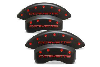 "06-13 Z06/GS Brake Caliper Covers w/""Corvette"" (Stealth Black)"