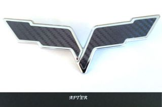 05-13 C6 Emblem Carbon Fiber Overlay (Default)