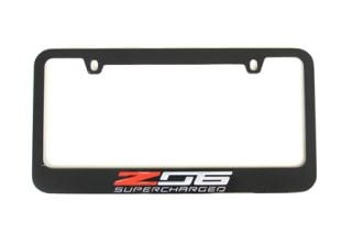 15-18 Black License Plate Frame w/Z06 Emblem (Default)