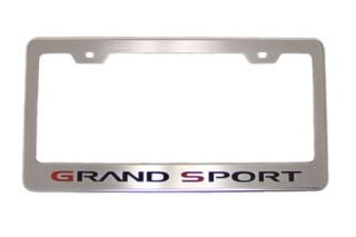 10-13 Grand Sport Stainless License Plate Frame (Default)