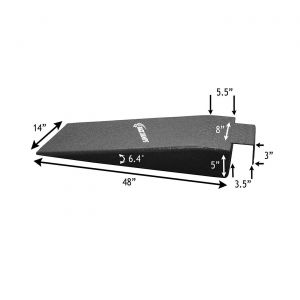 "Race Ramp 5"" Hook Nosed Rack Ramps (14"" Wide) (Default)"
