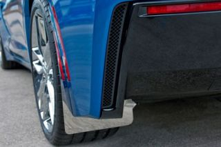 15-18 Z06/GS Stainless Mud Guards w/ Carbon Fiber Backing (4pc)