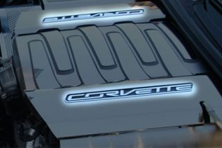 "14-18 Fuel Rail Cover Stainless ""Corvette"" (Finish)"