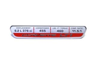 14-18 Interior Dash Trim Badge w/LT1 Performance (455hp) (Default)