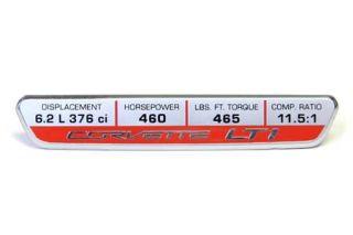 14-18 Interior Dash Trim Badge w/LT1 Performance (460hp) (Default)