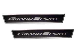 05-13 Stainless/Carbon Door Sills w/Grand Sport Script