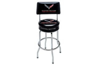 C7 Corvette Racing Counter Stool w/Backrest