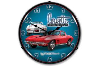 1967 Corvette Lighted Wall Clock