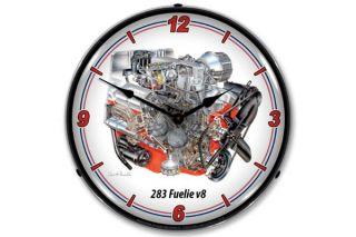 David Kimble 283 Fuelie Engine Lighted Wall Clock