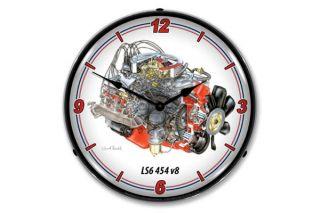 David Kimble LS6 454 Engine Lighted Wall Clock